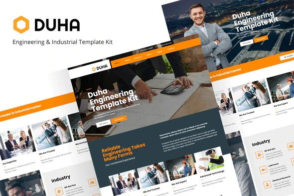 duha-engineering-industrial-template-kit-Nulled-Download
