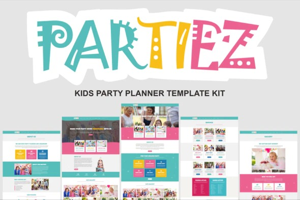 partiez-kids-party-planner-template-kit-Nulled-Download