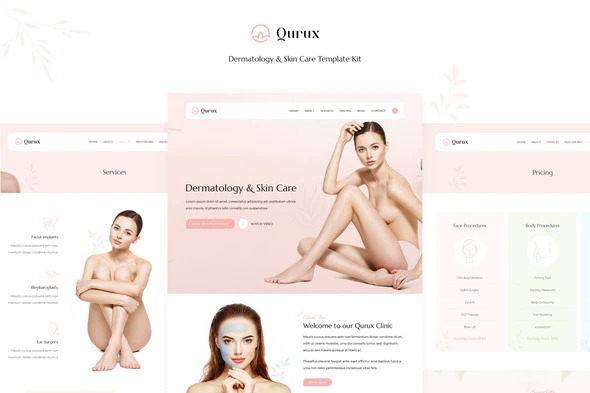 qurux-dermatology-and-skin-care-template-kit-Nulled-Download