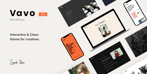 Vavo An Interactive Clean Theme For Creatives Nulled Download