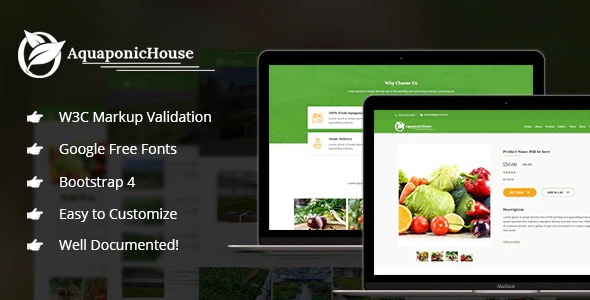 Aquaponic-House-Bootstrap-Template-Nulled-Download