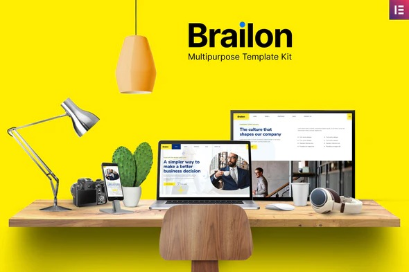 Brailon is an multipurpose Elementor template. The template is pixel-perfect designed, making sure your final creation is flexible and easily extendable. Also, Brailon works flawlessly on various screen size devices.