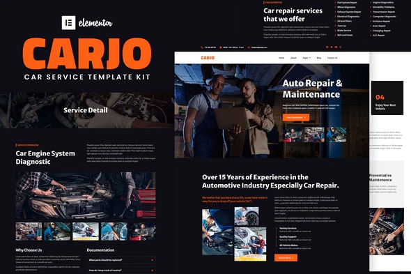 Carjo-Car-Services&Repair-Elementor-Template-Kit-Nulled-Download