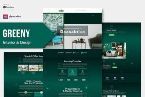 Greeny-Interior-Elementor-Template-Kit-Nulled-Download