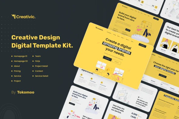 creativic-creative-agency-elementor-template-kit-Nulled-Download