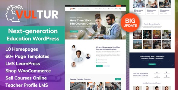 Vultur-Coach-Online-Courses&LMS-Education-WordPress-Nulled-Download