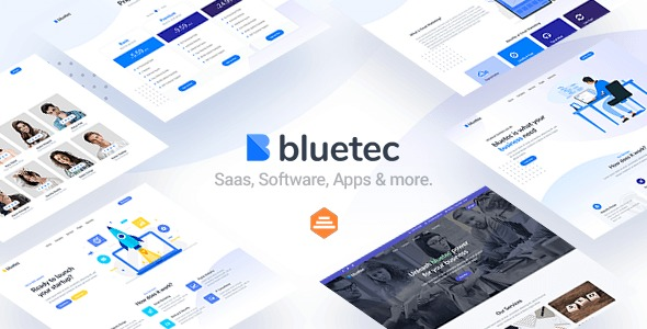 Bluetec-Saas-IT Software-Startup-and-Coworking-Website-Template-Nulled-Download