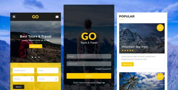 Go-Tours&Travel-Mobile-Template-Nulled-Download