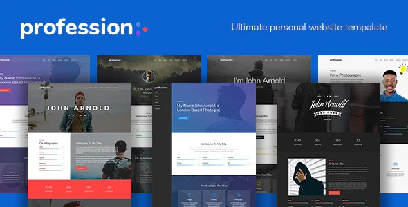 Profession-Personal-Website-Template-Nulled-Download