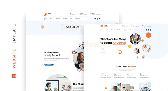 Shelly-School-Website-Template-Nulled-download