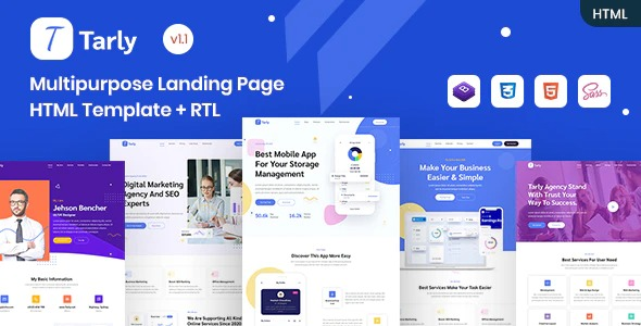 Tarly-Multipurpose-Landing-Page-HTML-Template-Nulled-Download