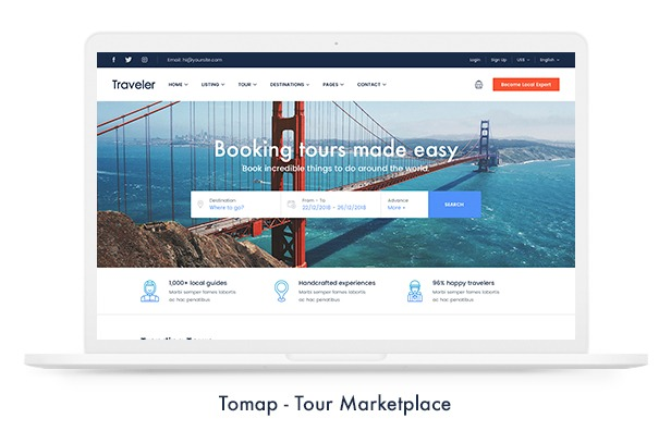 Traveler Nulled Travel Booking WordPress Theme Nulled Download - WordPress Themes, Plugins, Modules Extensions, Web Templates, CMS Templates and PHP Script Crack wordpress premium themes download free