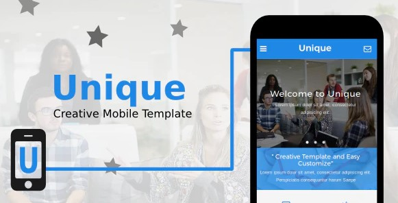Unique-Creative-Mobile-Template-Nulled-Download