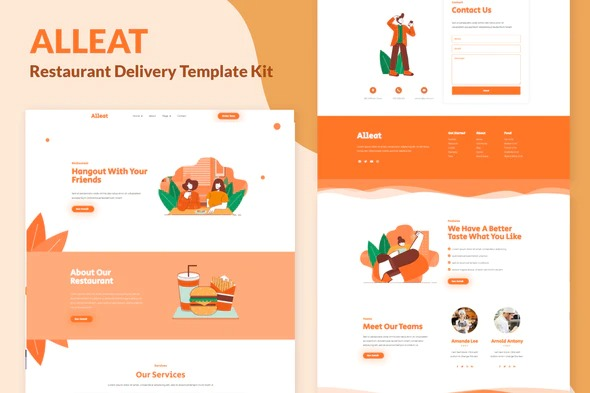 Alleat-Restaurant-Elementor-Template-Kit-Nulled