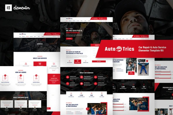 AutoTrics-Car-Repair&Auto-Service-Elementor-Template-Kit-Nulled-Download