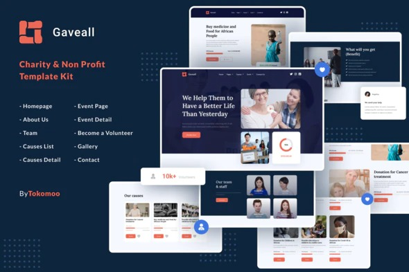 Gaveall-Charity-Elementor-Template-Kit-Nulled-Download