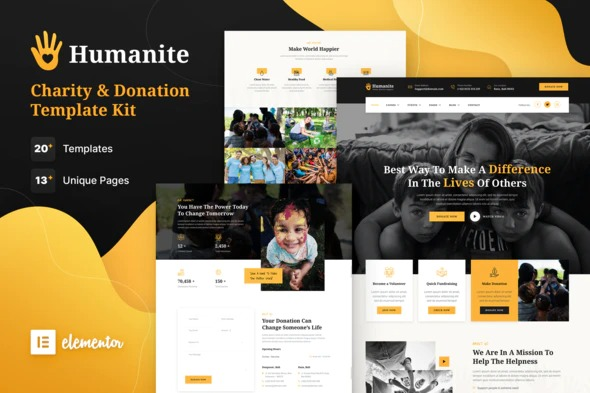 Humanite-Charity&Donation-Elementor-Template-Kit-Nulled-Download