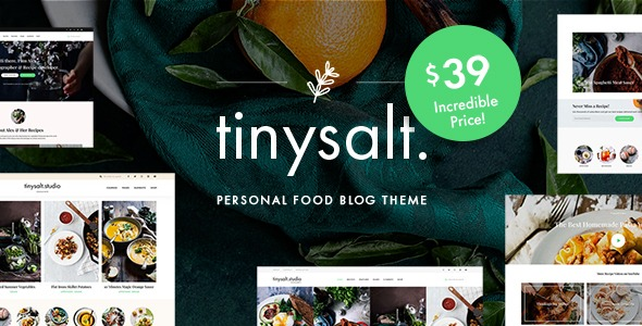 Tinysalt-Personal-Food-Blog-Wordpress-Theme-Nulled-Download