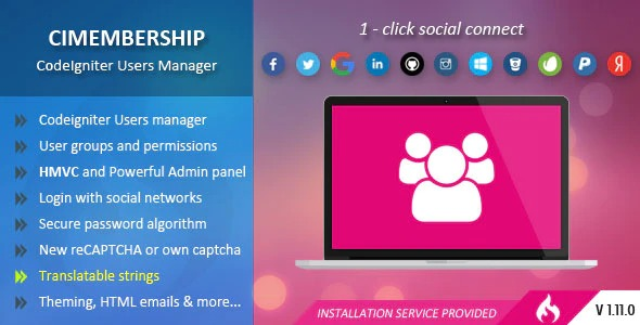 CIMembership-CodeIgniter-Users-Manager-Nulled-Download