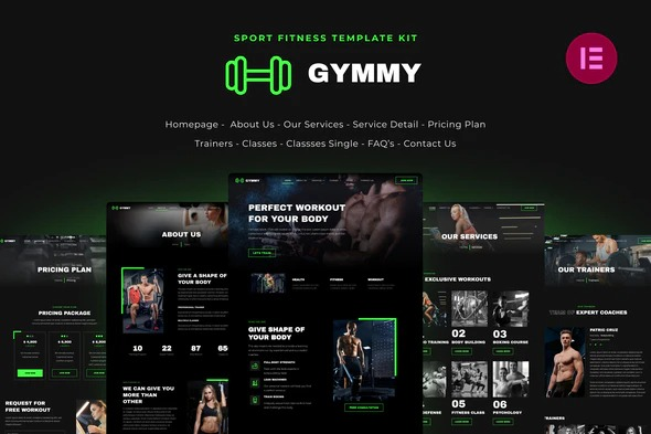 Gymmy-Sport-Fitness-Elementor-Template-Kit-Nulled-Download
