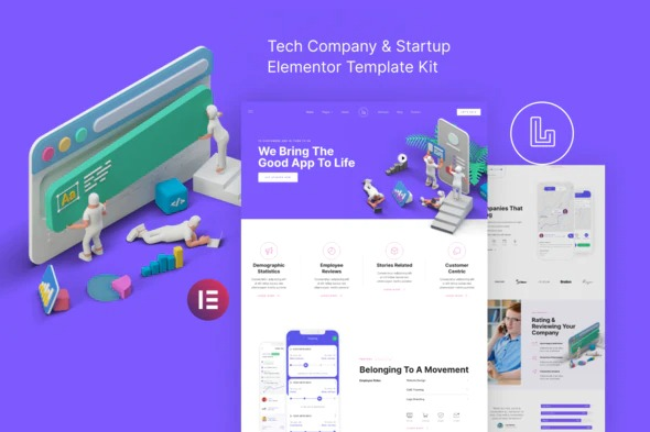 Landon-Tech-Company-Startup-Elementor-Template-Kit-Nulled-Download