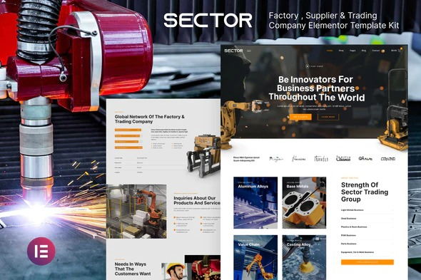 Sector-Factory-Industry-Trading-Company-Elementor-Template-Kit-Nulled-Download