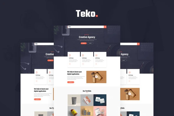 Teko-Creative-Agency-Template-Kit-Nulled-Downnload