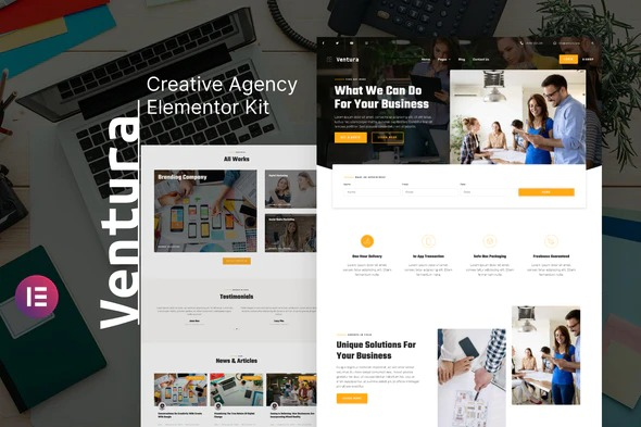 Ventura-Creative-Agency-Elementor-Template-Kit-Nulled-Download