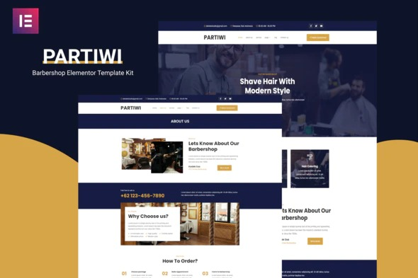partiwi-barbershop-elementor-template-kit-nulled-download