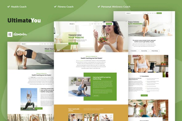 ultimateyou-health-coach-elementor-template-kit-Nulled-Download