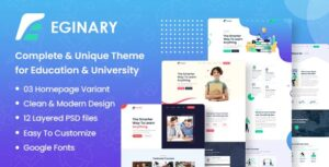 Eginary-Online-Education-Elementor-Template-Kit-Nulled-Download
