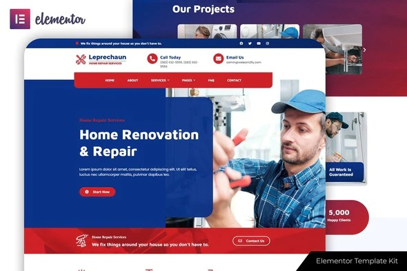 Leprechaun-Home-Repair-Elementor-Template-Kit-Nulled-Download