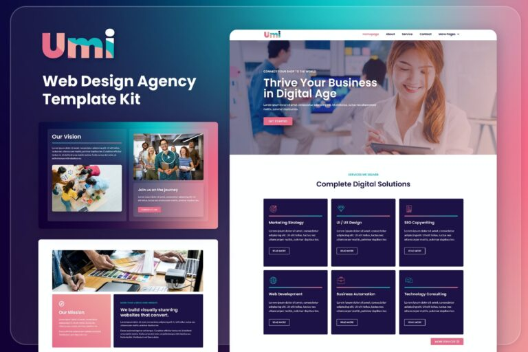 Umi-Web-Design-Agency-Elementor-Template-Kit-Nulled-Download
